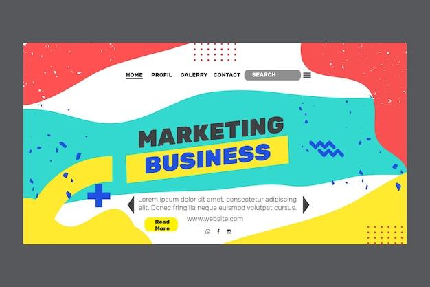 Marketing business landing page Kostenlosen Vektoren