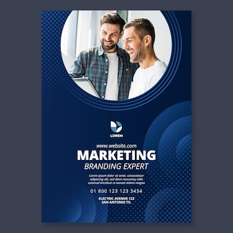 Marketing business poster vorlage