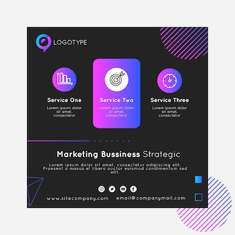 Marketing business quadrat flyer