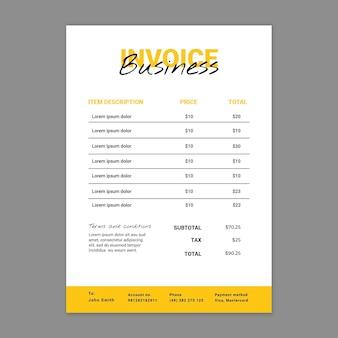 Marketing business rechnungsvorlage