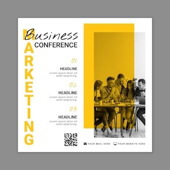 Marketing business square flyer vorlage