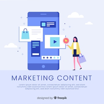 Marketing-content-konzept