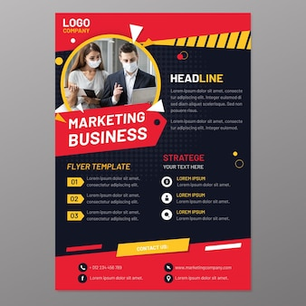 Marketing flyer vorlage