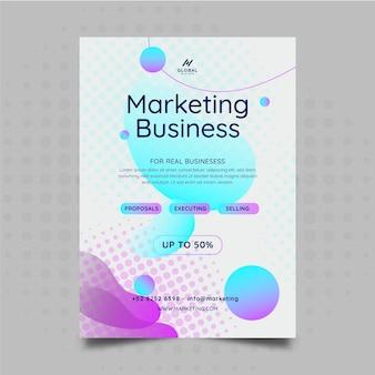 Marketing-geschäftsausweis