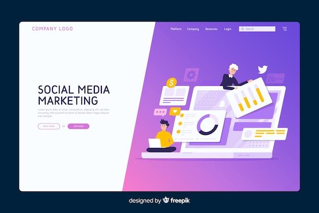 Marketing-konzept-landingpage-vorlage