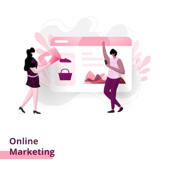 Marketing online-illustration