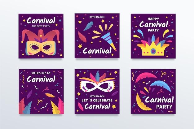 Marketing-promotion für karnevalsparty