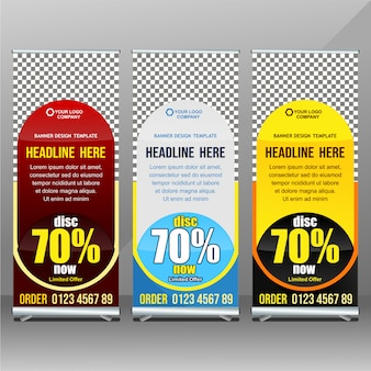 Marketing-rollup-banner-vorlage