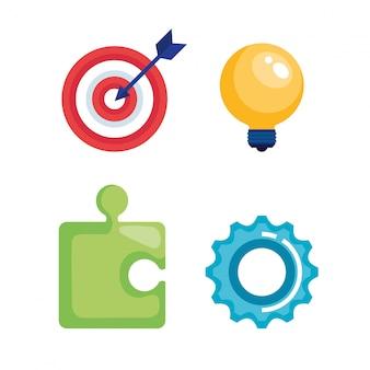 Marketing seo stellen icons