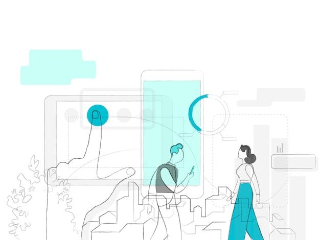 Marketing-start-up und analyse der kundengewohnheiten