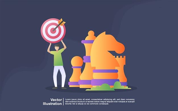 Marketing-strategiekonzept. aufmerksamkeitsanzeige, digitales marketing, öffentlichkeitsarbeit, werbekampagne, geschäftsförderung.