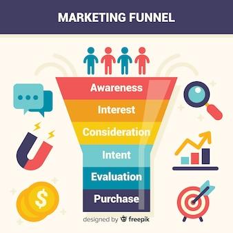 Marketing-trichter-hintergrund