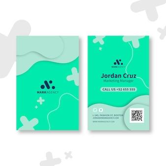 Marketing visitenkartenvorlage