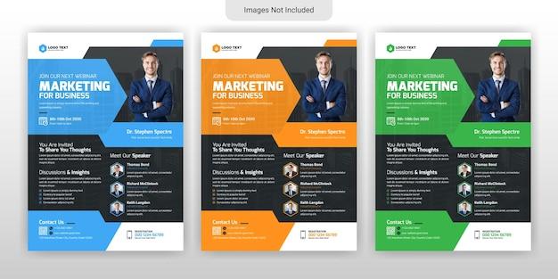Marketing-webinar und vorlagendesign für unternehmensflyer