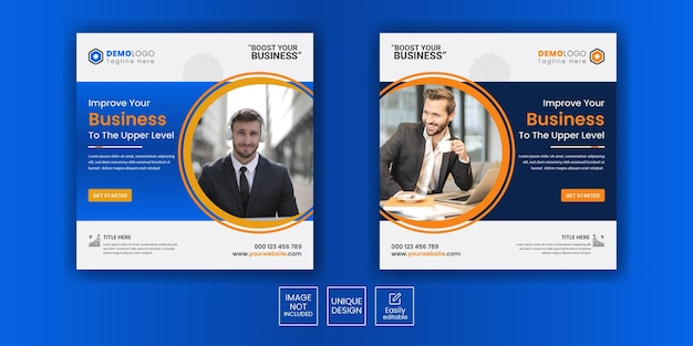 Marketingagentur für geschäftsförderung und instagram-post-banner für soziale medien für unternehmen