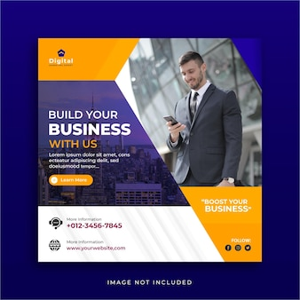 Marketingagentur für unternehmensförderung und corporate social media instagram post-vorlage