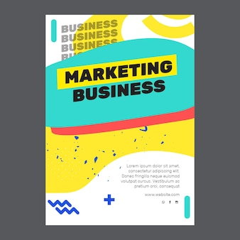 Marketinggeschäft a5 flyer