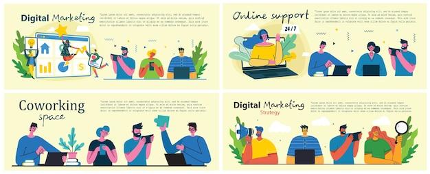 Marketingkampagne, geschäftskonzeptillustration im modernen flachen design.