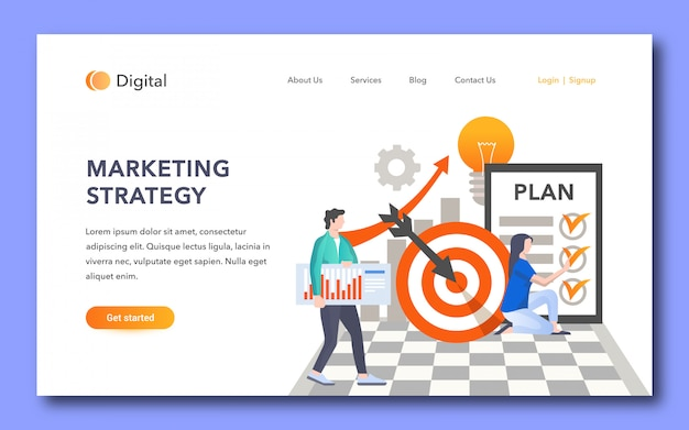 Marketingstrategie landing page design