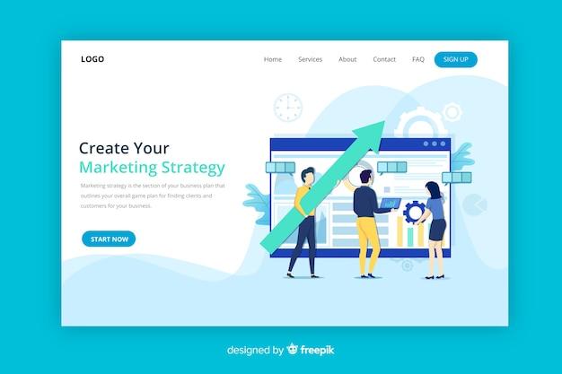 Marketingstrategie-zielseite
