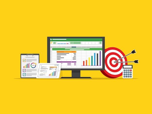 Marketingziel-strategiekonzept