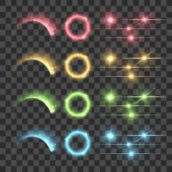 Markieren sie firework glow lens flare lumineszenz-fluoreszenz-beleuchtungslichter
