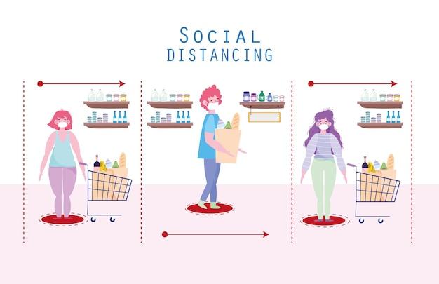 Markt für soziale distanzierung
