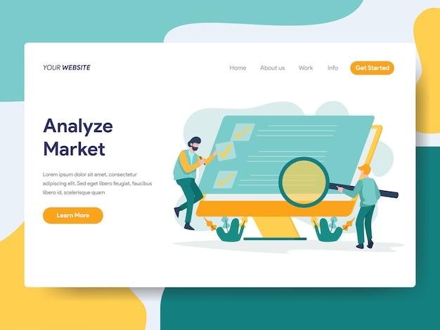 Markt für website-seite analysieren