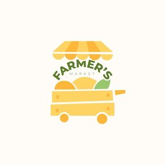 Marktdesign-logo für den bauernmarkt
