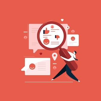 Marktforschung und -entwicklung, kundenbewertung und feedback