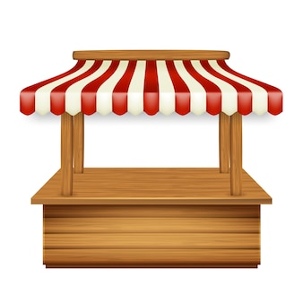 Marktpavillon kiosk mit markise