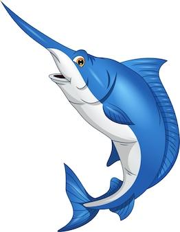 Marlin fisch lokalisiert auf weißem hintergrund