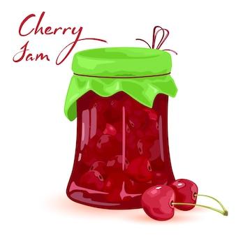 Marmelade aus milden sommerfrüchten, bauernhofernte und hausgemachten süßigkeiten aus der dose.