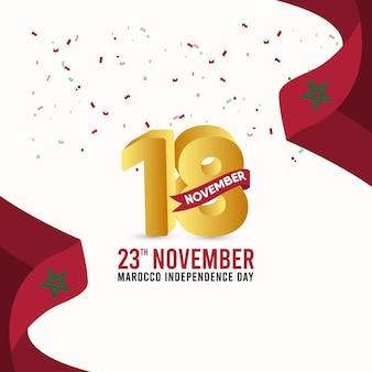 Marokko unabhängigkeitstag designvorlage