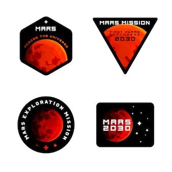 Mars erkundungsmission abzeichen