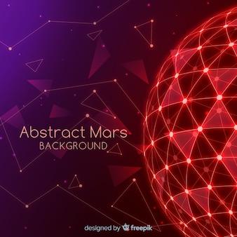 Mars-hintergrund mit abstraktem design