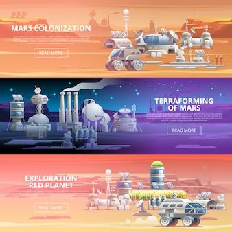 Mars kolonisation banner