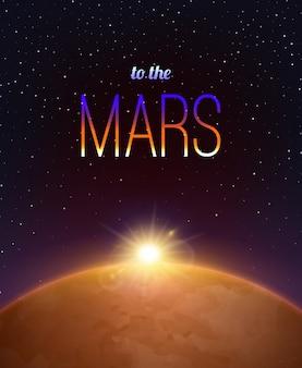 Mars realistischer hintergrund