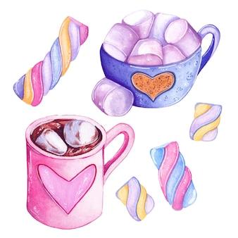 Marshmallow tassen