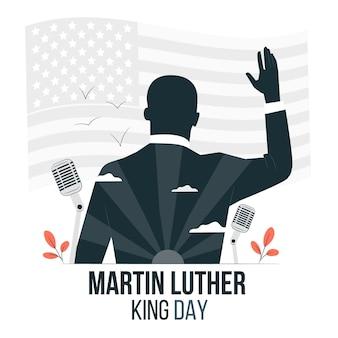 Martin luther king day konzept illustration