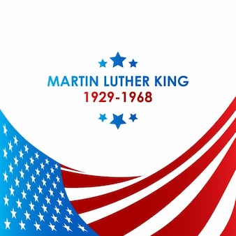 Martin luther king usa-flagge hintergrund