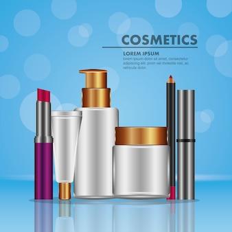 Mascara eyeliner lippenstift spray und puderkosmetik
