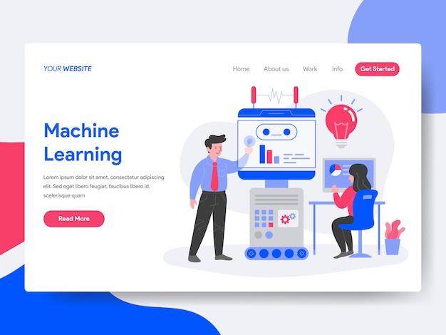 Maschinelle lernillustration