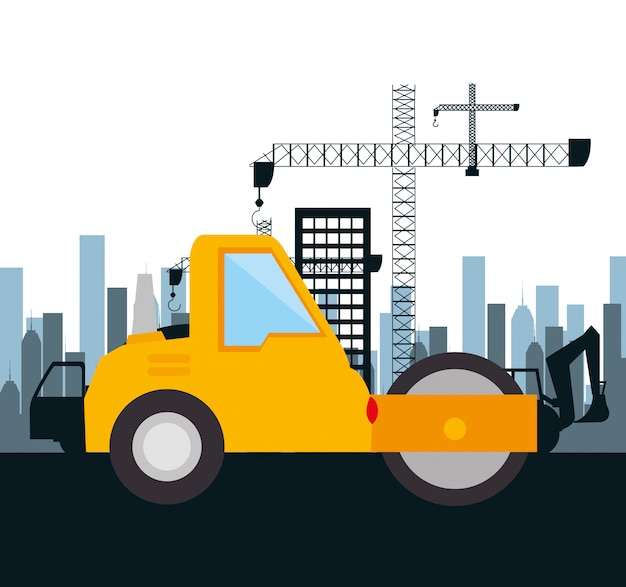 Maschinenbaukonstruktion isoliert