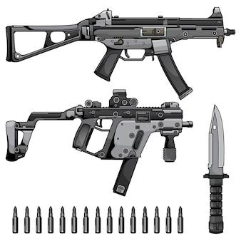 Maschinengewehr einstellen