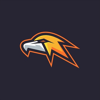 Mascot head eagle-logo