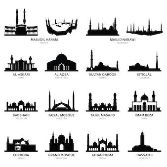 Masjid al-haram mekka und andere berühmte moschee
