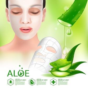 Maske aloe vera realistische pflanzenhautpflege kosmetik