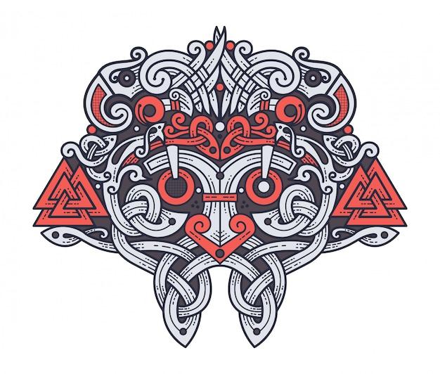 Maske des wikingergottes odin