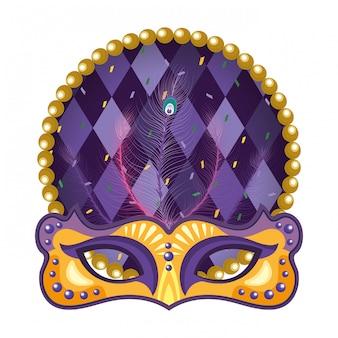 Maske und perlen